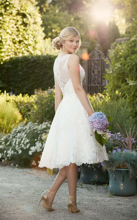 Trand Flat Shoes Km04 Biru Dongker embroidered knee length wedding gown i essense of australia