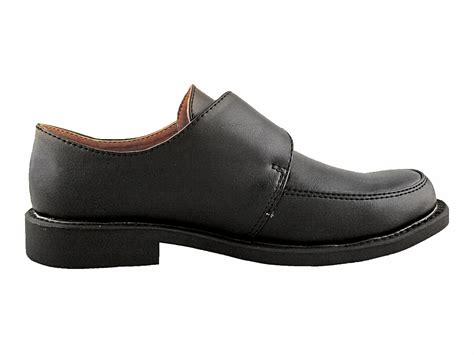 black dress shoes boys black dress shoes with velcro buckle