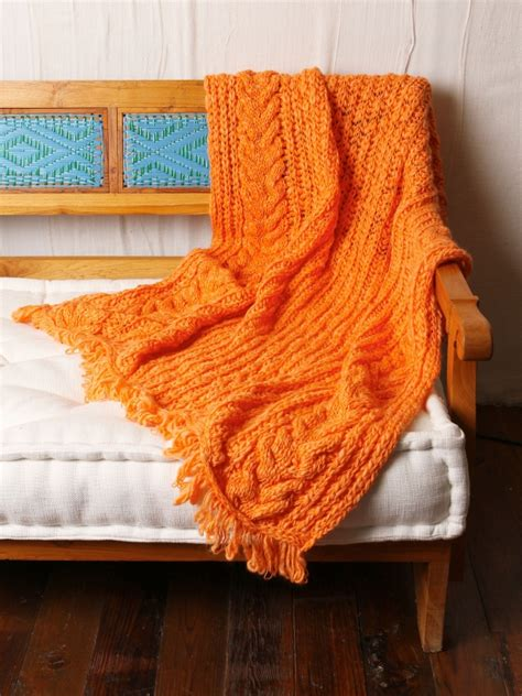 orange cable knit throw free cable knit throw orange one size 98 0