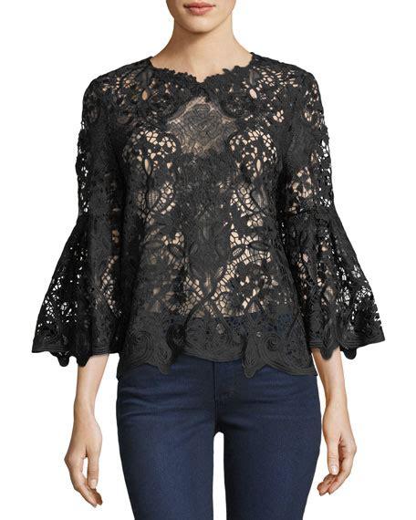 Lace Bell Sleeve Blouse kobi halperin mallory bell sleeve lace blouse neiman