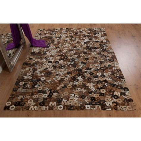 Rectangular Cowhide Rug Real Rug Alphabet E16 Rectangular Cowhide Rug Leader
