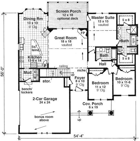 craftsman style house plans one story with basement