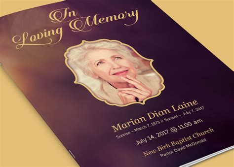 Memory Cards Funeral Template by In Loving Memory Funeral Program Template Inspiks Market