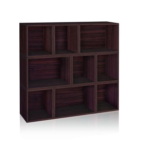 Eco Espresso Stackable Modular Bookcase Way Basics Storage Modular Bookshelves