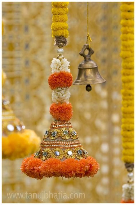Decorated bell hangings for a traditional Indian wedding