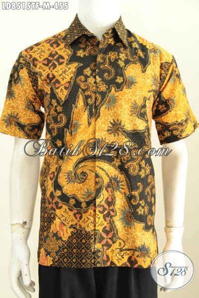 Kemeja Batik Pria Batik Tulis Lengan Pendek Warna Soft Baru Code B L jual baju batik pria modern 2018 kemeja batik premium lengan pendek proses tulis bikin