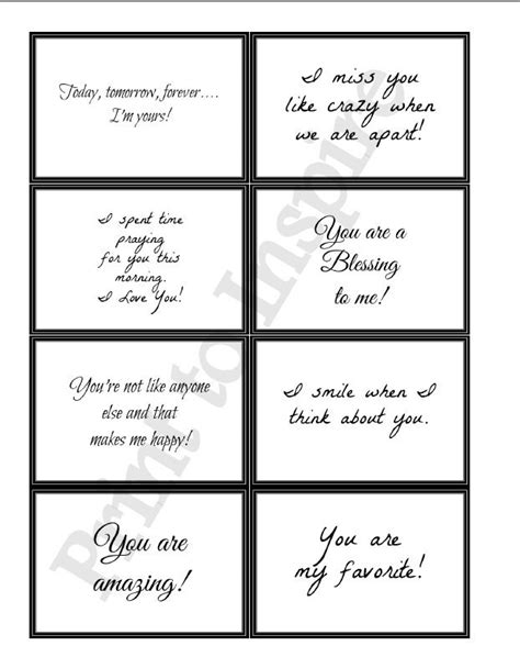 printable love note cards printable lunchbox or anytime love by print to inspire