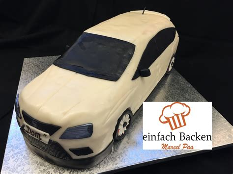 auto kuchen anleitung seat 3d torte car cake tutorial anleitung mit rezept i