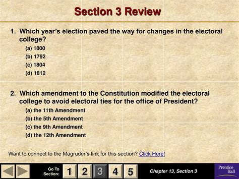 chapter 13 section 4 presidential nominations ppt magruder s american government powerpoint