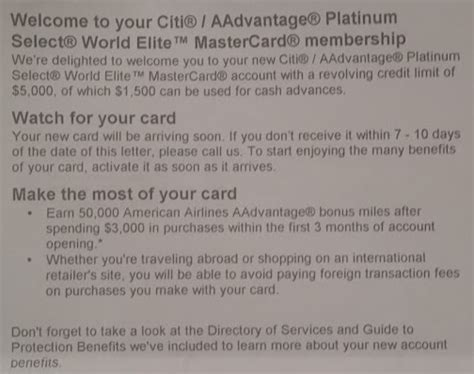 Offer Letter Bonus Language Update On My Citi Aadvantage Card Application Without 24 Month Language Points With A Crew