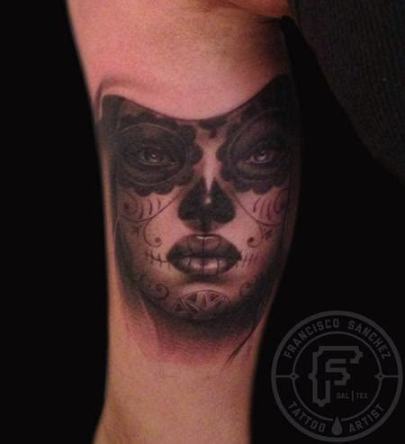 christian tattoo artist fort worth day of the dead girl by francisco sanchez tattoos
