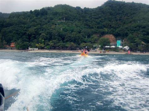 banana boat palm beach banana boat ride picture of palm beach resort laiya