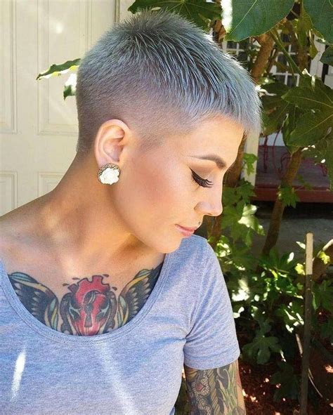 inspirations  buzzed pixie haircuts