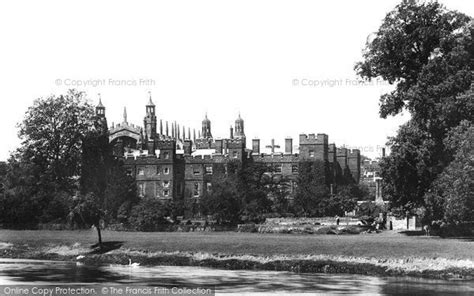 thames river university eton college from the river thames 1895 francis frith