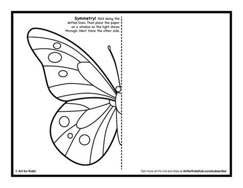 printable art symmetry art activity 5 free coloring pages art for