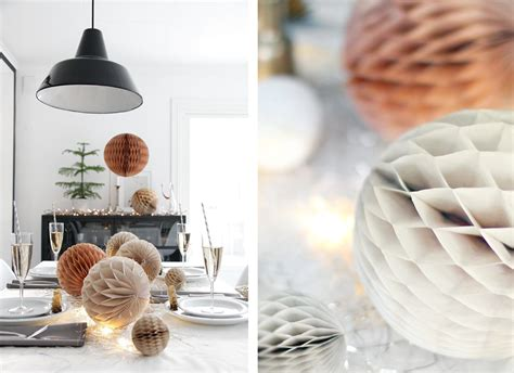chicdeco blog paper honeycomb christmas decorations