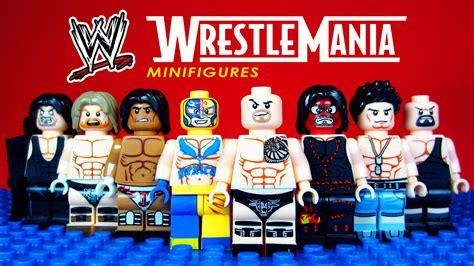 Minifig World Entertainment The Rock Undertaker lego wrestle mania knockoff minifigures world