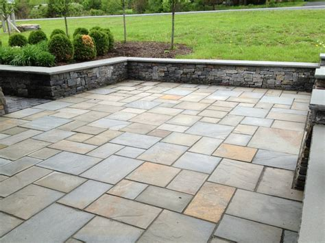 Bluestone Pavers Random Pattern Natural Cleft Full Color Bluestone Patio Patterns