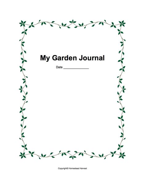 printable garden journal 16 best images about garden journal ideas on pinterest