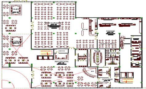 5 star hotel layout plan dwg restaurant architecture layout of five star hotel dwg file
