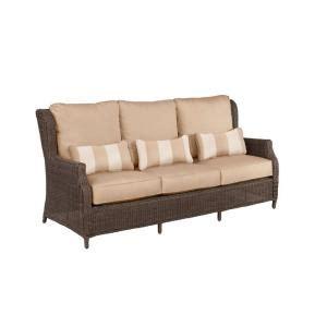 brown vineyard patio sofa in harvest with regency