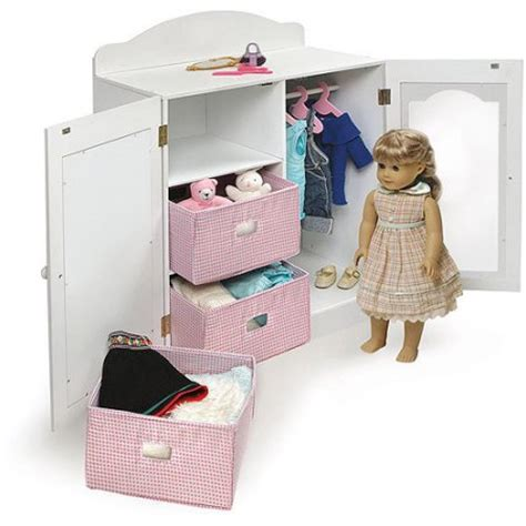 badger basket doll armoire badger basket mirrored doll armoire with hangers and
