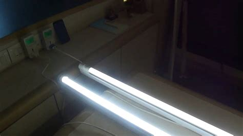 Smart Led Demo Comparison Of Smart Led Tube Light Vs Led Vs Regular Lights