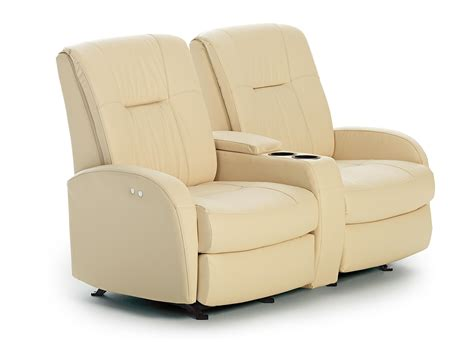 recliner sofa with console small reclining loveseat contemporary space saver