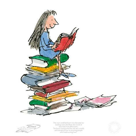 libro drawn from the archive quentin blake roald dahl matilda her own small bedroom collector s edition art print free