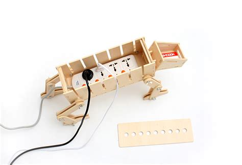 diy wooden desk organizer star wars at at theme x robot dog cable management system feelgift