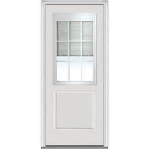 Glass Front Door Shades Odl 20 In X 64 In Add On Enclosed Aluminum Blinds In White For Steel Fiberglass Doors With