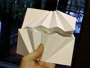 Printer That Folds Paper - geometric paper folding dr david huffman origami
