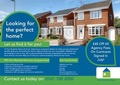 leaflet design for estate agents online print templates printing com