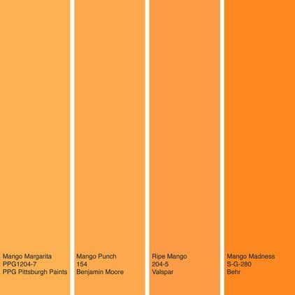 what color is a mango houzz color of the week mango use a bit of bold