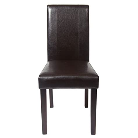 dazzling brown leather dining room chairs furniture chic leather chairs solid wood leatherette padded dinning chair