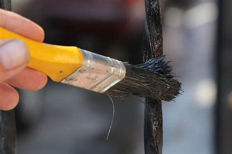 painting iron how to paint a wrought iron fence 8 steps with pictures