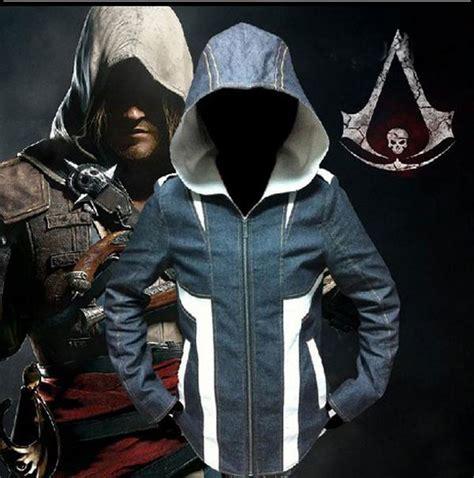 Sweater Anime Assassins Creed 4 Sweater Wg Asc 03 anime assassin s creed 4 black flag edward kenway costume coat hoodie jacket