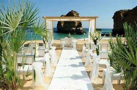 White Beach Wedding ceremony Algarve Portugal by Algarve