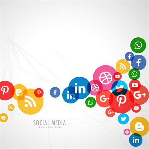media background social media logo background free vector