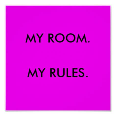 my room my rules poster zazzle