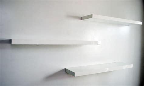 white floating bookshelves floating white shelves home office ideas
