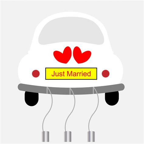 Just Married Auto Clipart by Just Married Car Clip