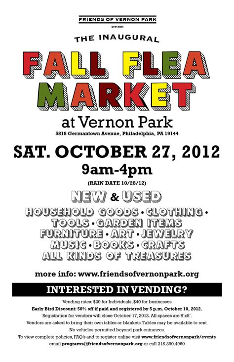 fall flea market october 27 2012 friends of vernon park