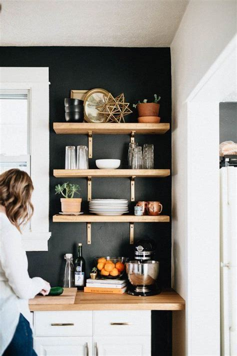 tidy shelves keep your workspace uncluttered and your 27 smart kitchen wall storage ideas shelterness
