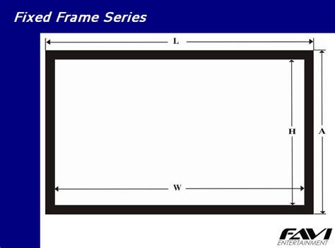 Fixed Frame Screen 84 Inci favi 16 9 84 inch fixed frame projector screen ff hd 84