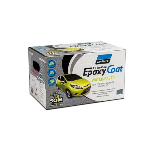 Dy Mark 4L Water Based Epoxy Charcoal Garage Floor Coating Kit