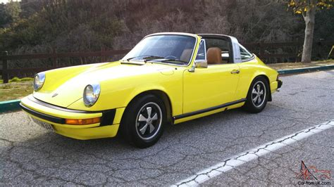 porsche yellow paint light yellow porsche 911 targa original paint dry az