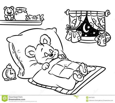 coloring pages sleeping bears sleeping bear coloring page