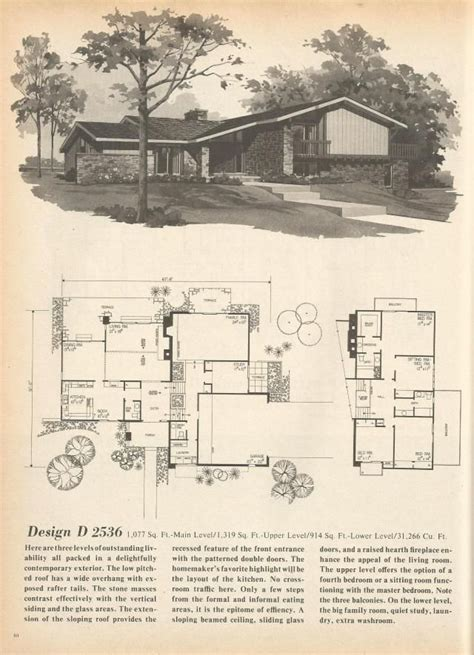 1970s house plans 1000 ideas about vintage house plans on pinterest