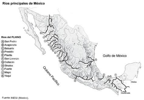 mapa de mexico con rios mapa rios de la republica mexicana